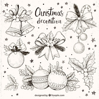 Sammlung von fantastischen weihnachtsdekoration