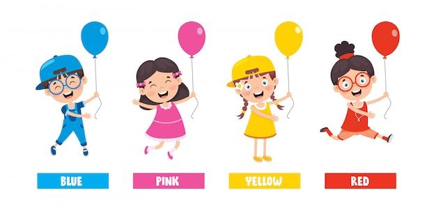 Sammlung von farben für die kindererziehung