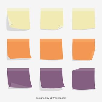 Sammlung von farbigen noten