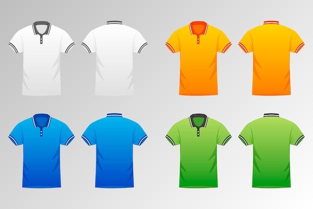 Sammlung von farbigen poloshirts für männer