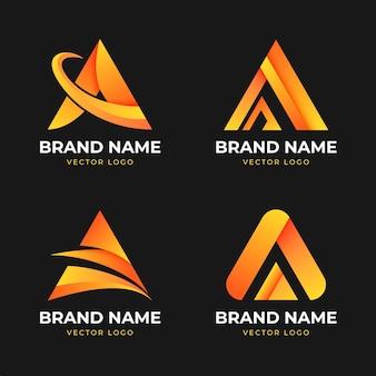 Sammlung von farbverlauf eine logo-vorlage Kostenlosen Vektoren