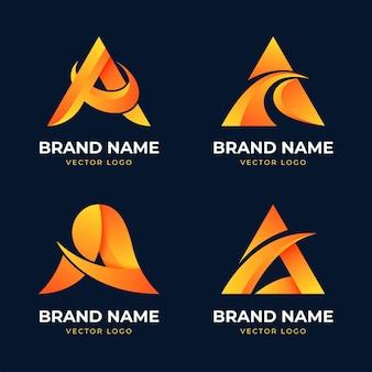 Sammlung von farbverlauf eine logo-vorlage
