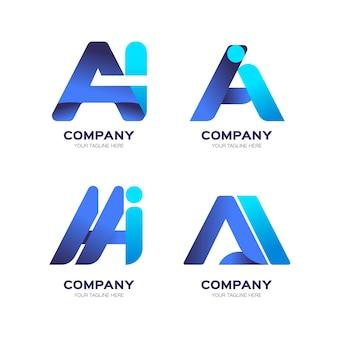 Sammlung von farbverlaufs-logos