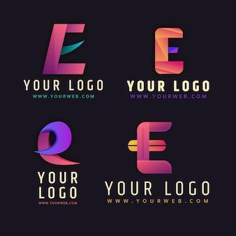 Sammlung von farbverlaufs- oder logo-vorlagen