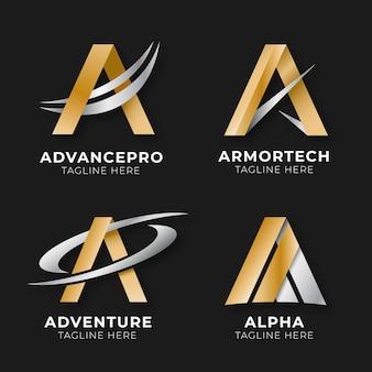 Sammlung von farbverlaufs- und logo-vorlagen
