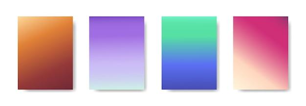Sammlung von farbverlaufshintergrund für poster-flyer-banner