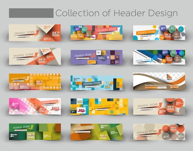 Sammlung von fashion sale discount styled website banner