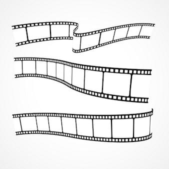 Sammlung von filmstreifen