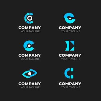 Sammlung von flachen design-c-logos