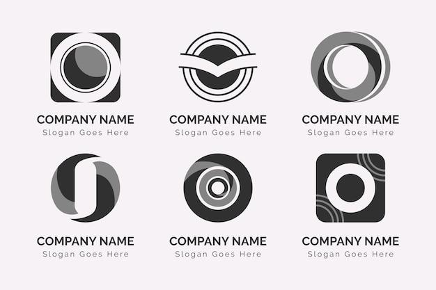 Sammlung von flachen o logo-vorlagen