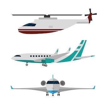 Sammlung von Flugzeugen