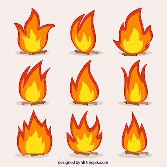 Sammlung von freudenfeuer