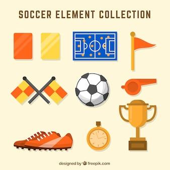 Sammlung von fußballelementen