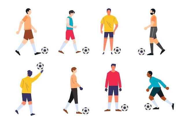 Sammlung von fußballspielern