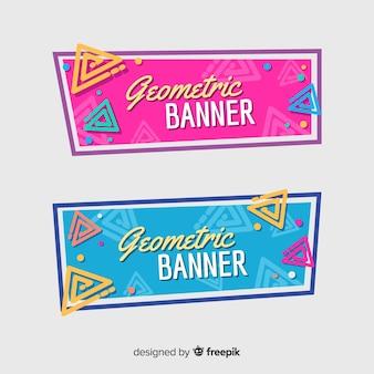 Sammlung von geometrischen banner