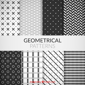 Sammlung von geometrischen mustern