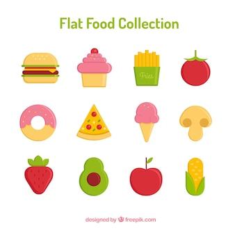 Sammlung von gesunden und fast-food