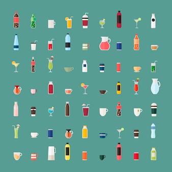 Sammlung von getränkevektoren