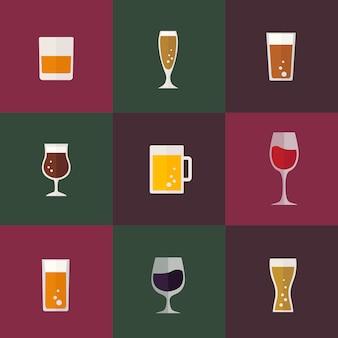 Sammlung von Getränke Vektoren