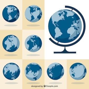 Sammlung von globen