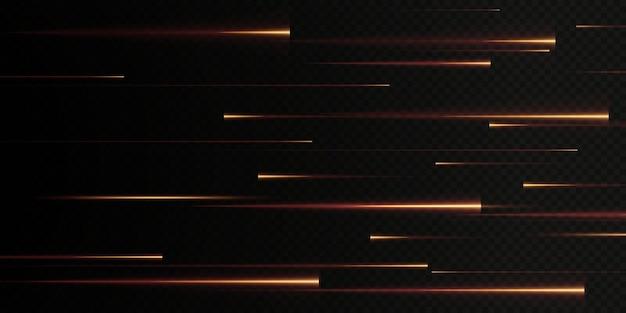 Sammlung von goldenen geschwindigkeitslinien isoliert goldlicht elektrisches licht lichteffekt png curve gold.