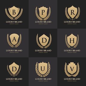 Sammlung von goldenen luxus-logos