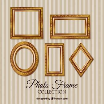Sammlung von goldenen rahmen vintage-bild