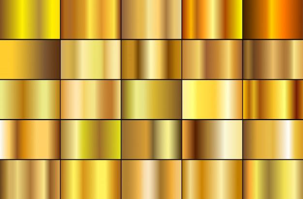 Sammlung von goldfarbverläufen