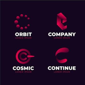 Sammlung von gradienten-c-logo-vorlagen