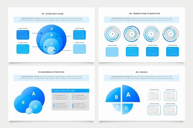 Sammlung von gradienten-harvey-ball-diagrammen