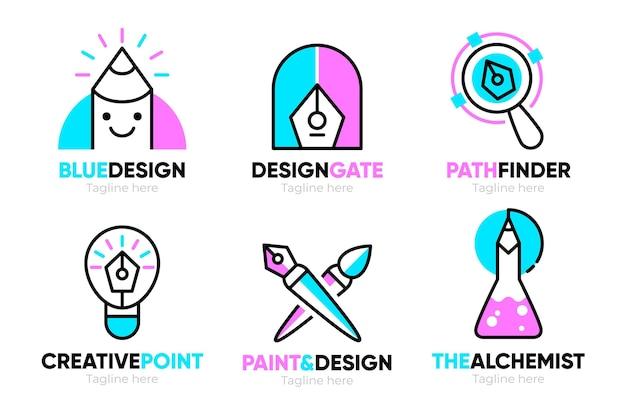 Sammlung von grafikdesigner-logo-vorlagen