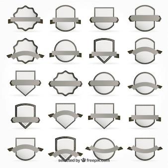 Sammlung von grauen abzeichen
