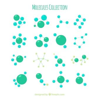 Sammlung von grünem molekül