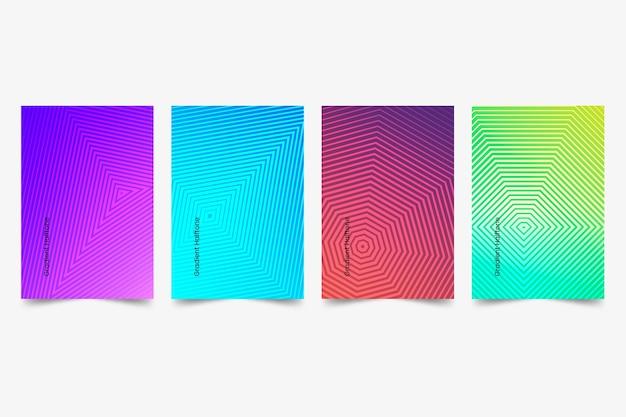 Sammlung von halbton-farbverlaufsabdeckungen