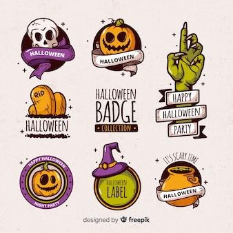 Sammlung von halloween-abzeichen