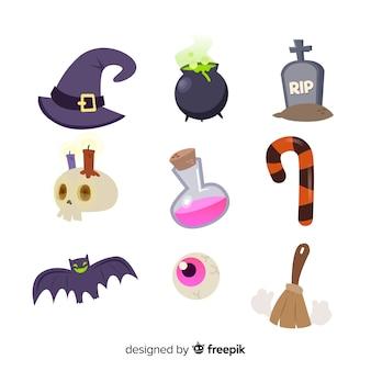 Sammlung von halloween-element