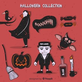 Sammlung von halloween-elementen