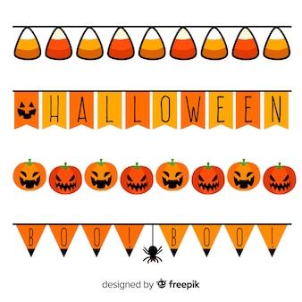 Sammlung von halloween grenzen