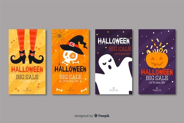Sammlung von halloween instagram geschichten