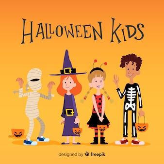 Sammlung von halloween-kindern