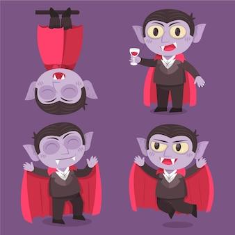 Sammlung von halloween-vampir-charakter