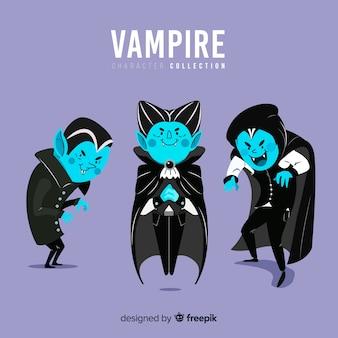 Sammlung von halloween vampire