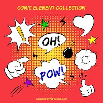 Sammlung von hand gezeichnet comic-elementen
