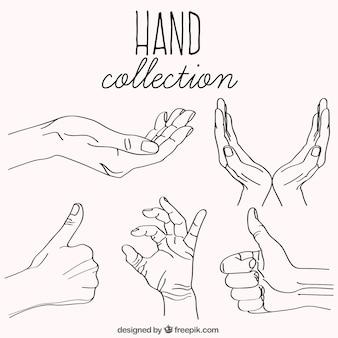 Sammlung von handskizzen