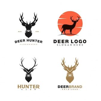 Sammlung von hirsch-logo-illustration