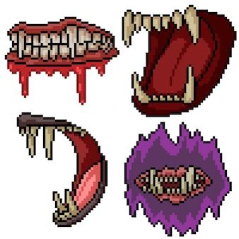 Sammlung von horror-pixel-kunst