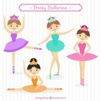 Sammlung von hübschen ballerina
