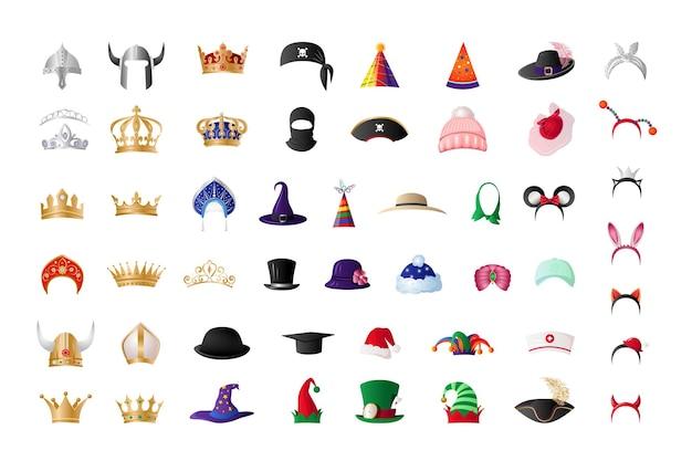 Sammlung von hüten
