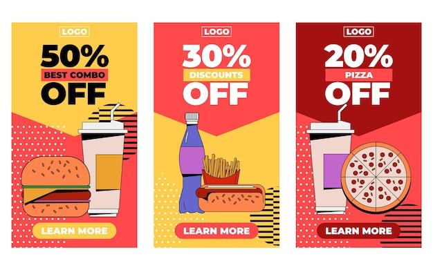 Sammlung von illustrierten combo bietet banner