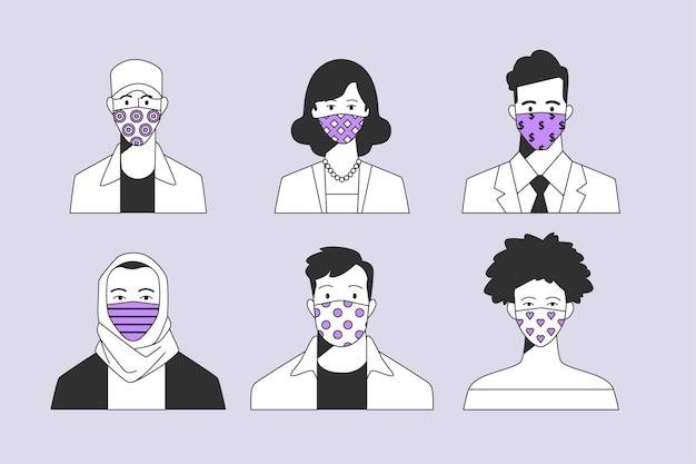 Sammlung von illustrierten personen-avataren